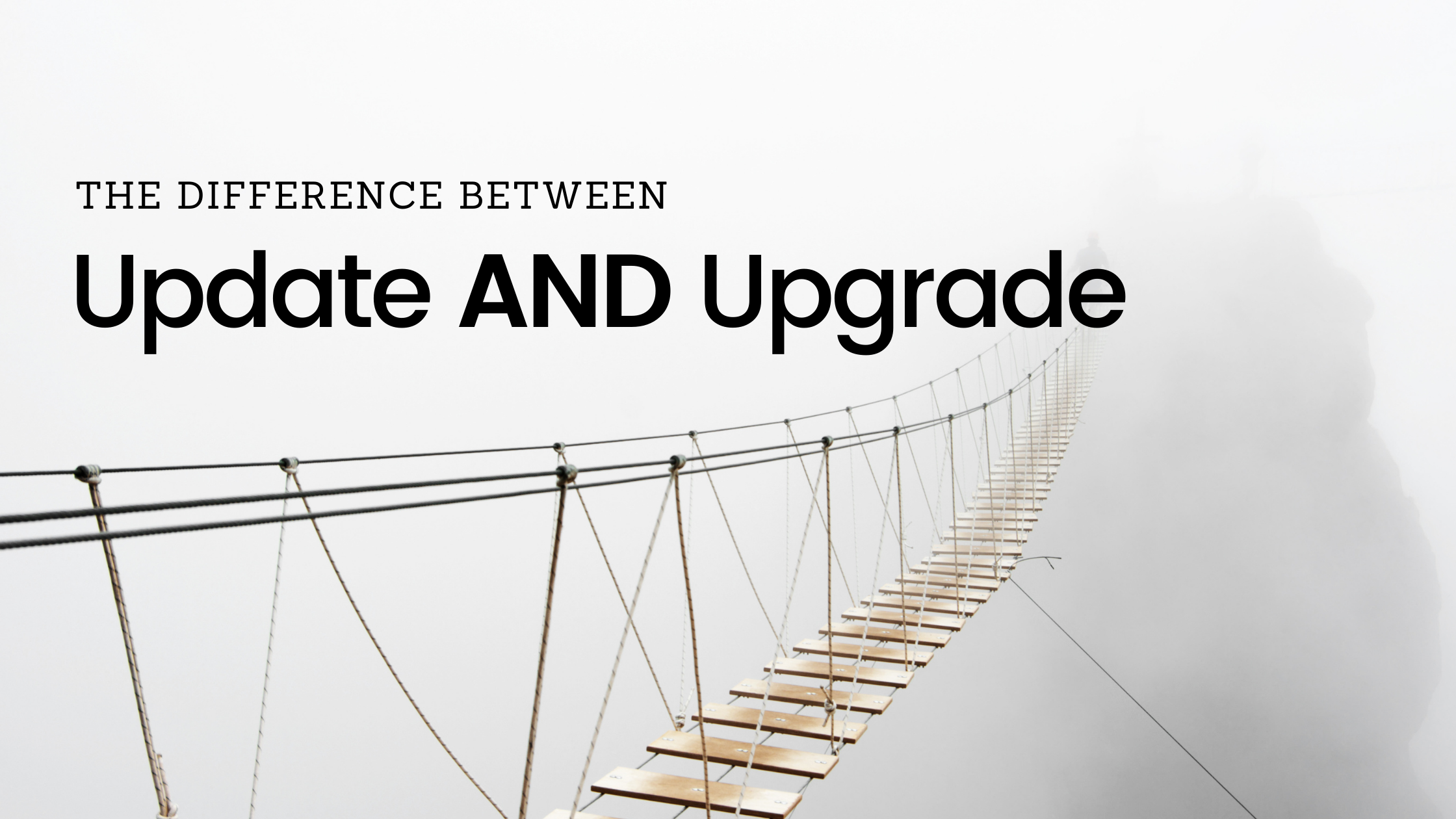 Difference between software update and upgrade